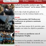 Aplicación para leer el diario argentino Clarín